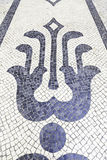 Typisk stengolv av Lissabon Arkivbilder