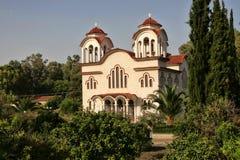 Typisk stenkyrka, Grekland Royaltyfri Bild