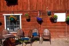 Typisk svenskt gatakafé Royaltyfri Fotografi
