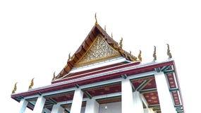 Typisk tak med prydnader av thai tradition Arkivbilder