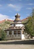 Typisk Tibet buddiststupa Fotografering för Bildbyråer