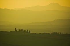 Typisk tuscan liggande Royaltyfria Bilder