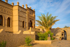 Typiska beståndsdelar av marockansk arkitektur Arkivbild