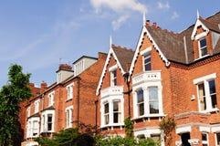 typiska brittiska hus Fotografering för Bildbyråer