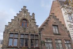 Typiska byggnader i Bruges Royaltyfri Foto