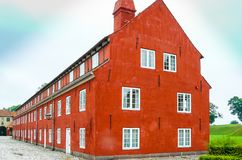 typiska danska hus i Köpenhamnstaden Danmark royaltyfri fotografi