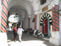 En Hamam i medinaen. Tunis. Tunisien royaltyfri bild