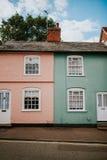 typiska engelska hus Arkivbilder