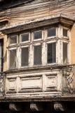 Typiska fönster i Malta Arkivfoton