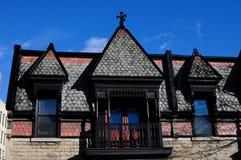 Typiska hus av montreal Arkivfoto