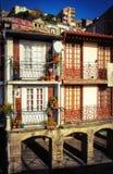 Typiska hus i Oporto Arkivfoto