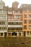 Typiska hus i St Gallen Arkivfoton