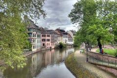 Typiska hus i Strasbourg Royaltyfria Bilder