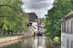 Typiska hus i Strasbourg Royaltyfri Fotografi