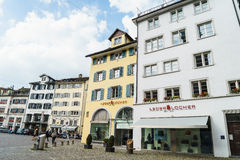 Typiska hus i Zurich Royaltyfria Foton