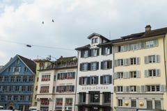 Typiska hus i Zurich Royaltyfri Bild