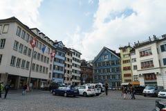Typiska hus i Zurich Royaltyfri Fotografi