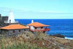 Typiska hus på laen Palma Arkivfoton