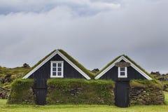 Typiska kabiner i Island, Rif, Juli 2014 arkivfoton