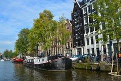 Typiska kanalhus Royaltyfri Bild