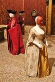 Typiska kläder för aristokrater i Venedig, Italien Royaltyfria Foton