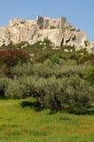 Typiska landskap av Les-Baux-de-Provence royaltyfria foton