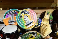 Typiska musikinstrument indonesia Arkivbild