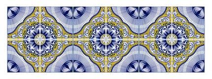 Typiska portugisiska garneringar med kulöra keramiska tegelplattor - söm Royaltyfri Foto