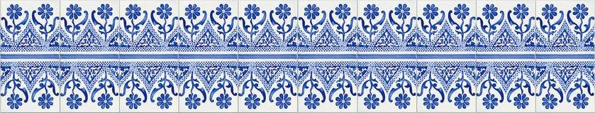 Typiska portugisiska garneringar med kulöra keramiska tegelplattor - söm arkivfoton