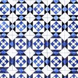 Typiska portugistegelplattor, blåa Azulejo, spanjor, italienare och mo royaltyfri fotografi