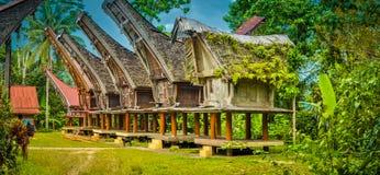 Typiska släkt- hus i Sangalla Royaltyfria Bilder