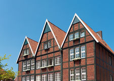 Typiska tyska hus Royaltyfria Foton