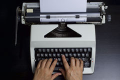 Typist on Duty Stock Photography