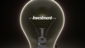 Typo 'Investment' in light bulb and surrounded businessmen, engineers, idea concept version (included alpha). Typo in light stock video