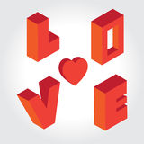 Typo Love Blocker. Vector for your works Stock Image