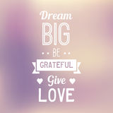 Typo Quote Background - Dream Big vector illustration