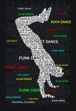 Typoghraphy de la danza Fotografía de archivo libre de regalías