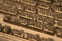 typografi Fotografering för Bildbyråer