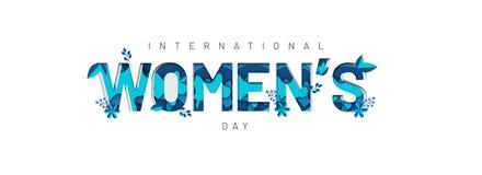Typografi av internationella kvinnors dag royaltyfri illustrationer