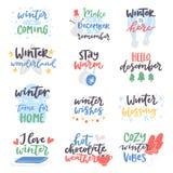 Typografi för bokstäver för logo för design för text för kort för vintercitationsteckenvektor som säger kostnadsförslag för ferie vektor illustrationer