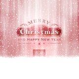 Typografi för glad jul för silver röd vektor illustrationer