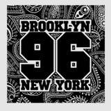 Typografi för New York T-tröjamode Royaltyfri Foto