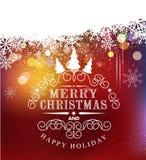 Typografi för vektormalljul Mall för julbil Arkivfoto