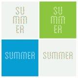 Typografi för vektorsommarferie Typografi som komponeras av sommar Stock Illustrationer