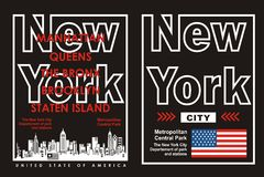 02 typografi New York City, vektor Arkivbilder