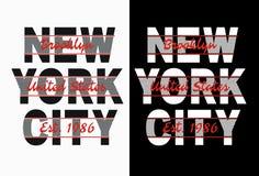 Typografi New York City, vektorbild Royaltyfria Bilder