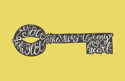Typografia klucz Fotografia Royalty Free