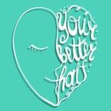 Typografia plakat Fotografia Royalty Free