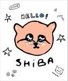 Typografia slogan z Shiba psa wektorem dla t koszulowego druku broderii i ilustracja wektor