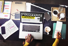Typografia układu pomysłów twórczości projekta elementu pojęcie Zdjęcia Royalty Free